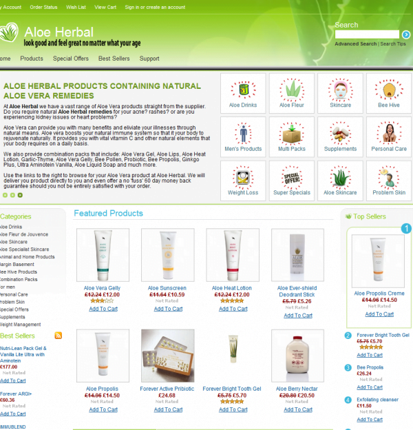 Aloe Herbal Home Page