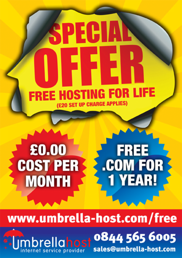 Umbrella Host Leaflet Design