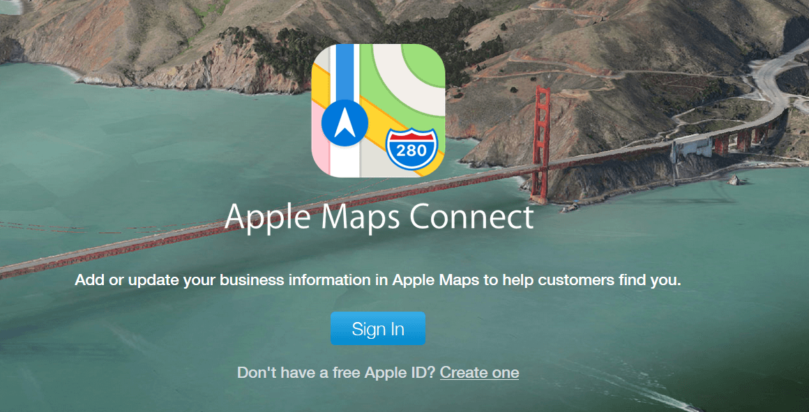 add business to apple maps connect