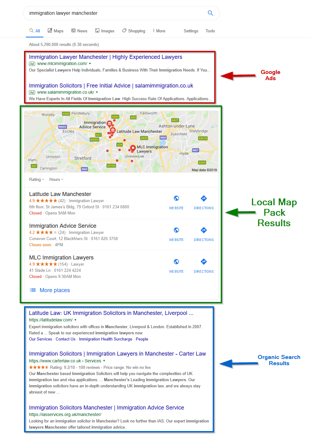 local SEO map pack Google listings