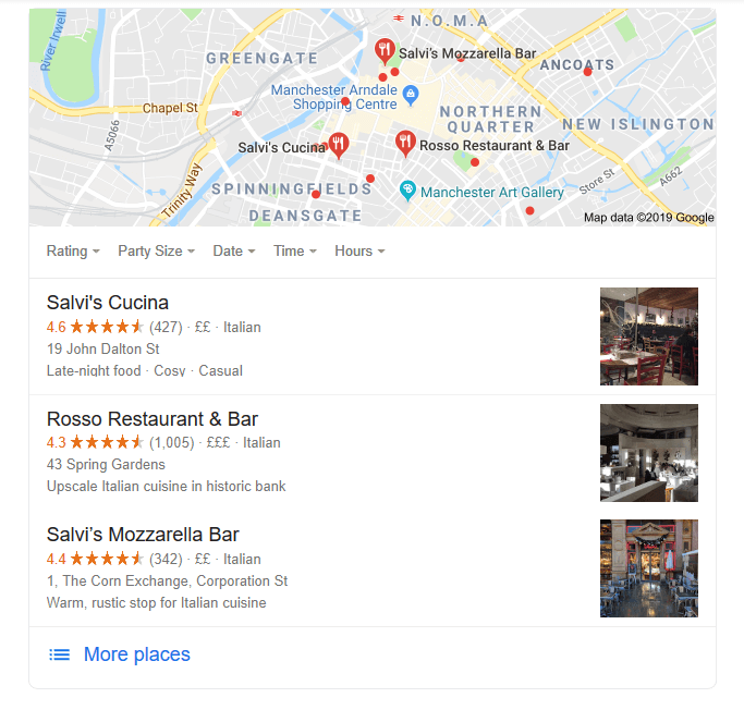 local map takeaway listing