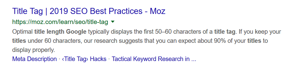 good moz search snippet