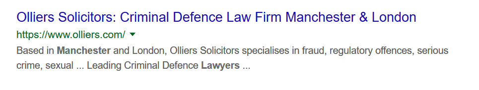 solicitors search snippet