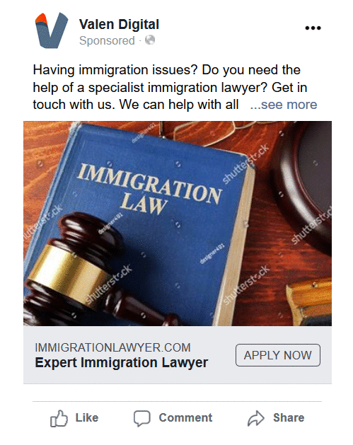 immigration lawyer lead ad review