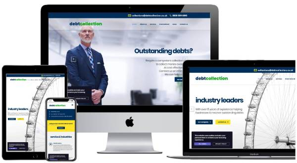 Debt Collection Website Web Design and SEO Case Study